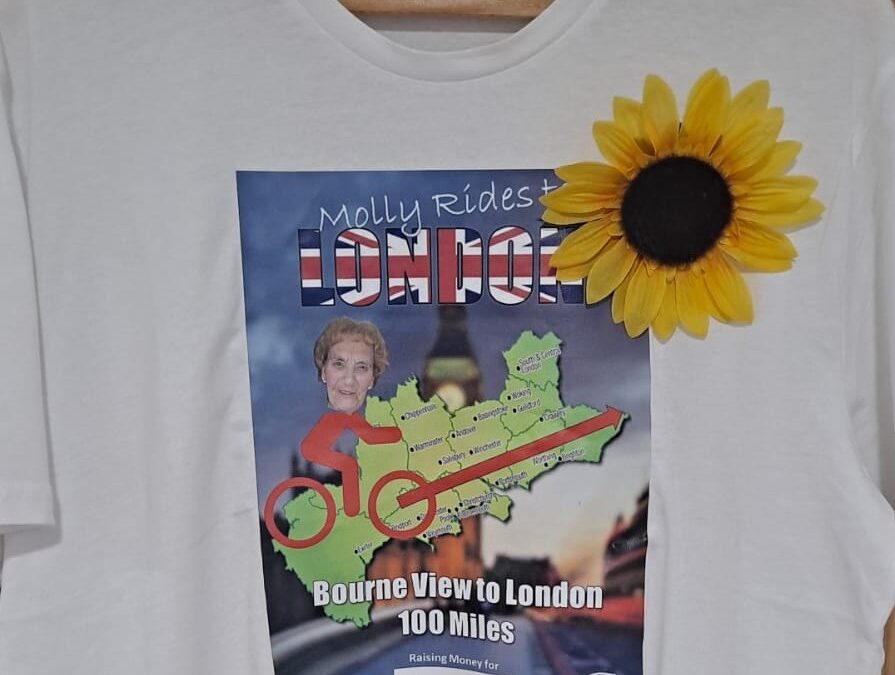 Supporter Molly Rides to London in aid of Lewis-Manning Hospice Care!
