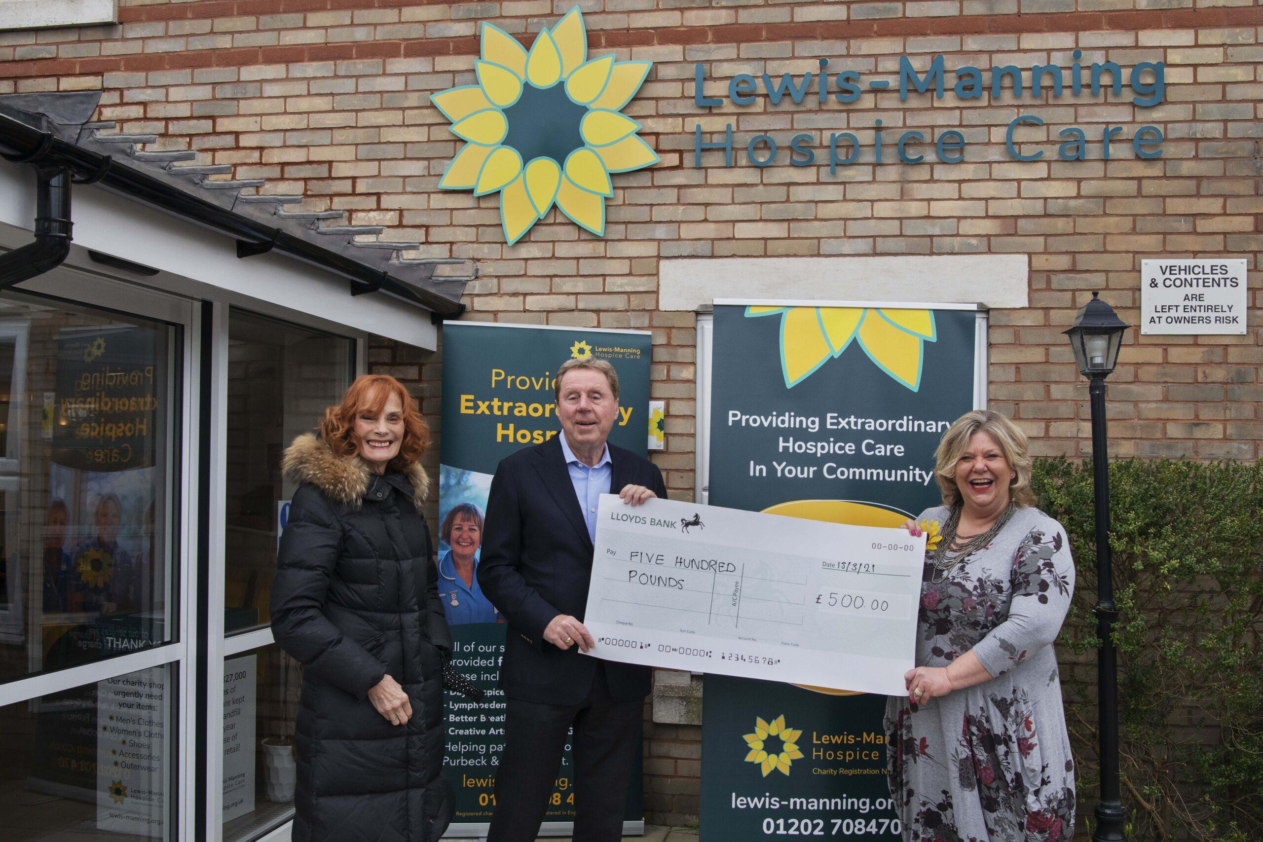 Patron Harry Redknapp Presents Supermarket Sweep Cheque