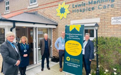 High Sheriff of Dorset shows support for Lewis-Manning Hospice Care and makes his maiden visit in his new role
